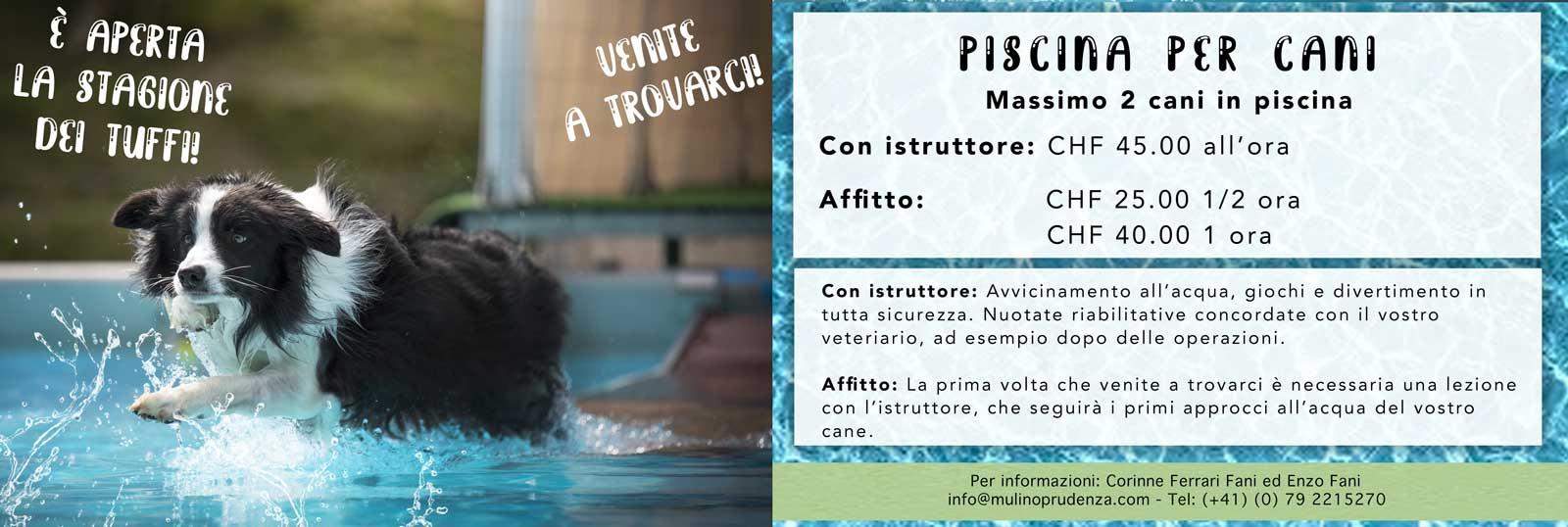 piscina per cani Novazzano Canton Ticino
